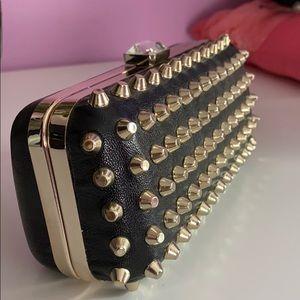 Studded purse/ clutch
